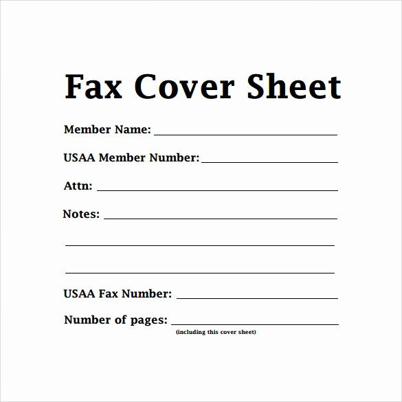 Fillable Fax Cover Sheet Template Elegant 14 Sample Basic Fax Cover Sheets