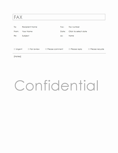 Fillable Fax Cover Sheet Template Inspirational Confidential Fax Cover Sheet Template Download Create