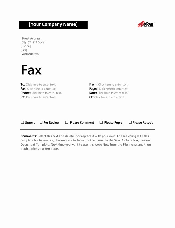Fillable Fax Cover Sheet Template Inspirational Use A Custom Fax Cover Sheet with Line Faxing Efax