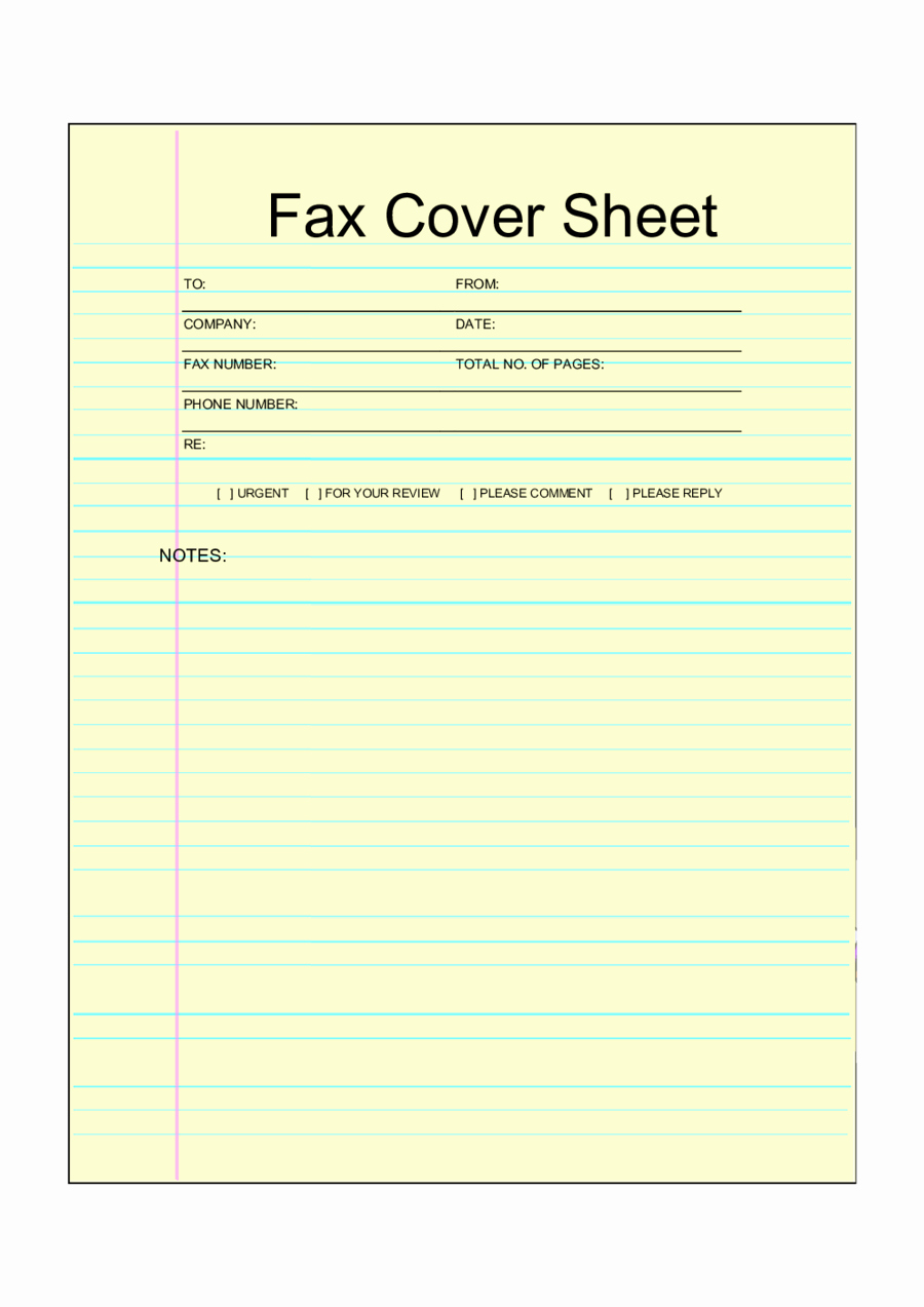 personal fax cover sheet template 05