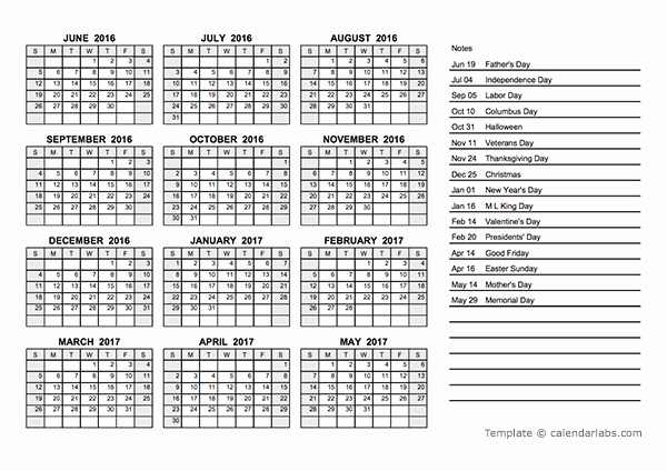 Fiscal Year Calendar 2016 Template Awesome 2016 Yearly Calendar Pdf Free Printable Templates