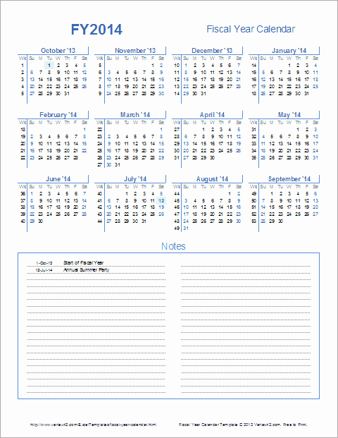Fiscal Year Calendar 2016 Template Beautiful Fiscal Year Calendar Template for 2014 and Beyond