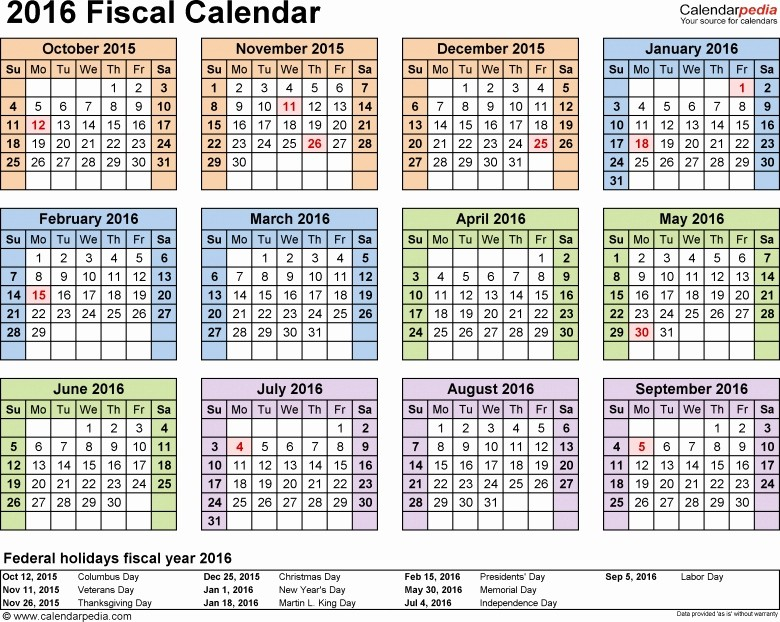 Fiscal Year Calendar 2016 Template Elegant Printable 4 5 4 Retail Calendar 2016 Free Calendar Template