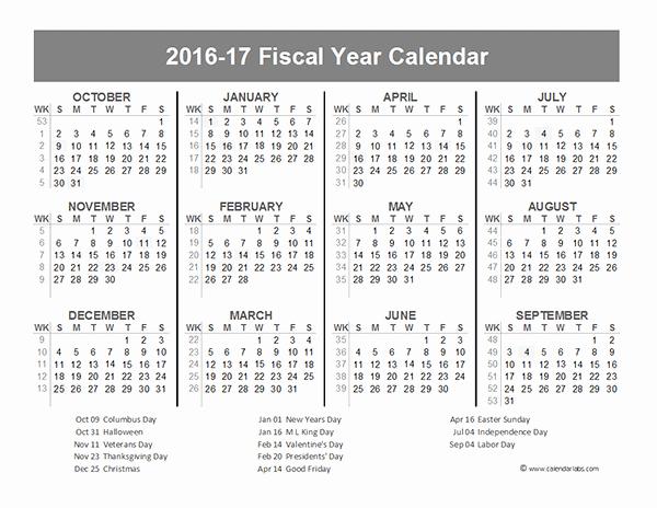 Fiscal Year Calendar 2016 Template Inspirational 2016 Fiscal Year Calendar Usa 10 Free Printable Templates