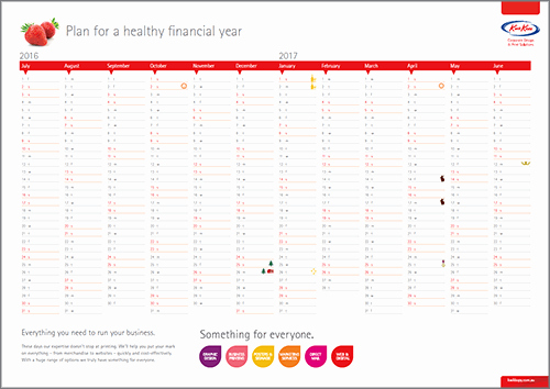 Fiscal Year Calendar 2016 Template Luxury Printable 2016 2017 Financial Year Calendar Kwik Kopy