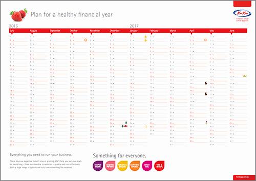Fiscal Year Calendar 2016 Template Luxury Printable 2016 2017 Financial Year Calendar Kwik Kopy