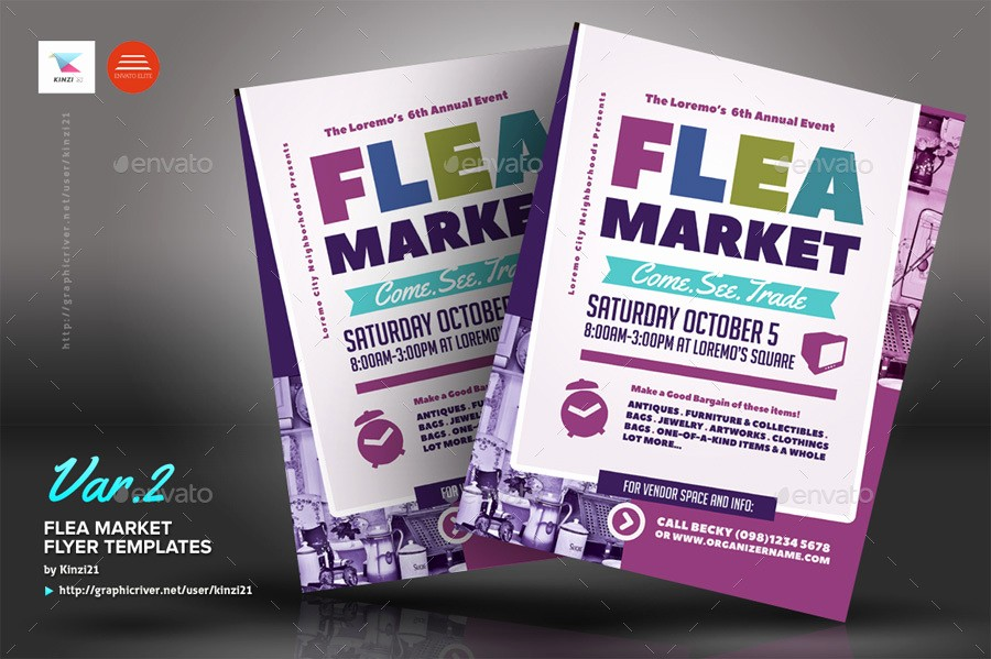 Flea Market Flyer Template Free Awesome Flea Market Flyer Templates by Kinzi21