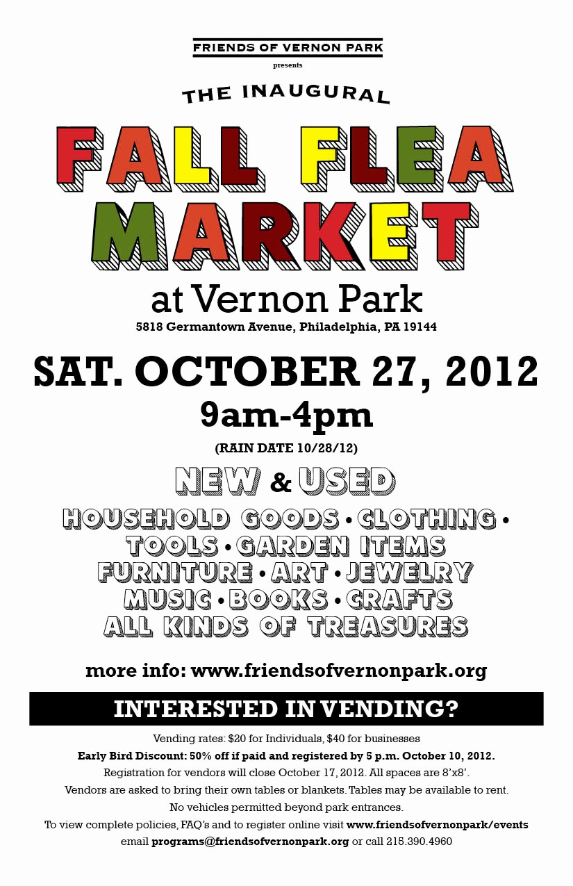 Flea Market Flyer Template Free Beautiful Fall Flea Market October 27 2012