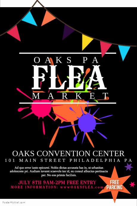 Flea Market Flyer Template Free Beautiful Flea Market Template