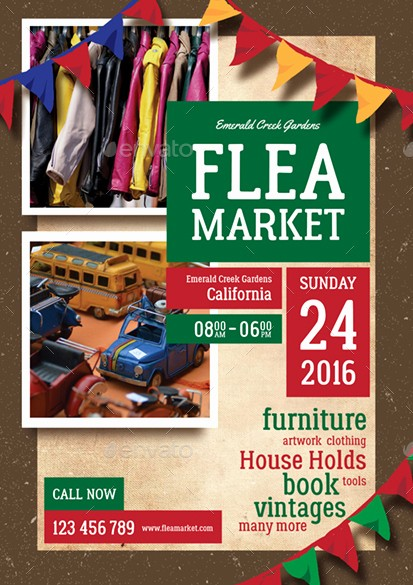 Flea Market Flyer Template Free Elegant Flea Market Flyer by Monggokerso