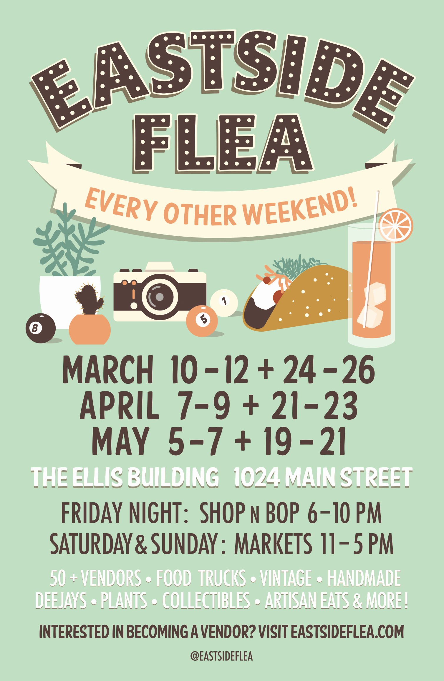 Flea Market Flyer Template Free Elegant Poster Design for the Eastside Flea Spring Markets