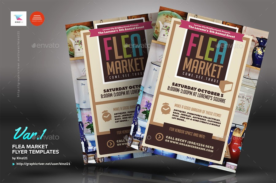 Flea Market Flyer Template Free Lovely Flea Market Flyer Templates by Kinzi21