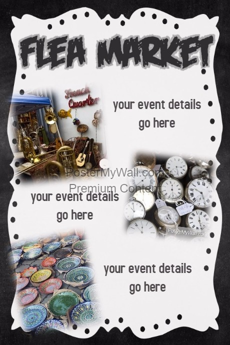 Flea Market Flyer Template Free Lovely Flea Market Sale event Craft Fair Grunge Masculine Cars
