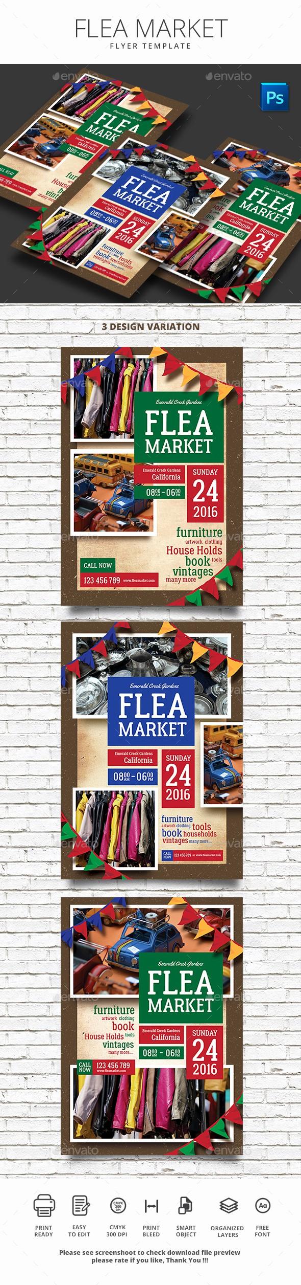 Flea Market Flyer Template Free Luxury Flea Market Flyer by Monggokerso