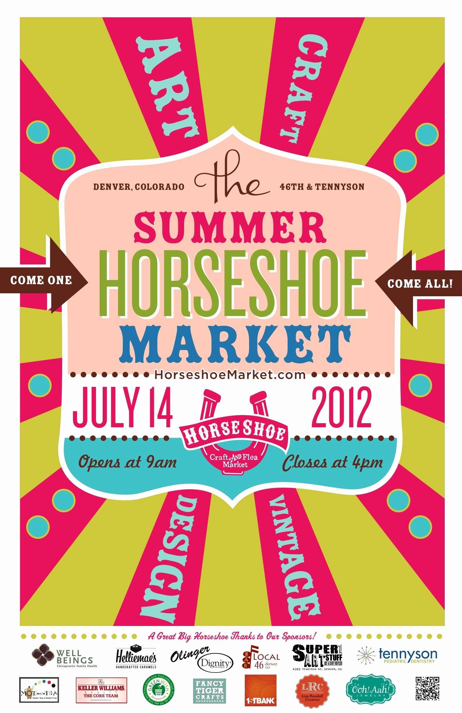 Flea Market Flyer Template Free Luxury Summer Horseshoe Craft Flea Market Poster Horses and
