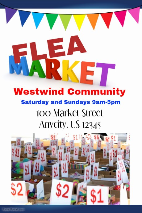 Flea Market Flyer Template Free New Postermywall