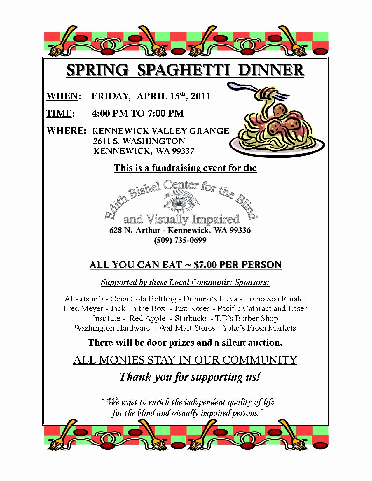 Flyers for Fundraisers Template Free Inspirational Spaghetti Dinner Flyer Template Yourweek 198bddeca25e