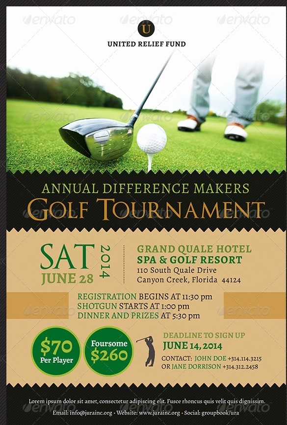 Flyers for Fundraisers Template Free Luxury Golf tournament Flyer Template Beepmunk