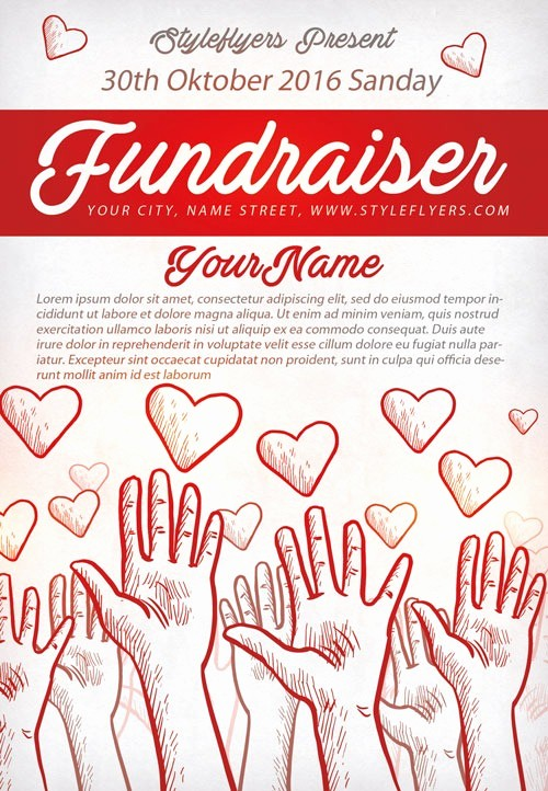 Flyers for Fundraisers Template Free Luxury Munity Fundraiser Free Flyer Template Download for