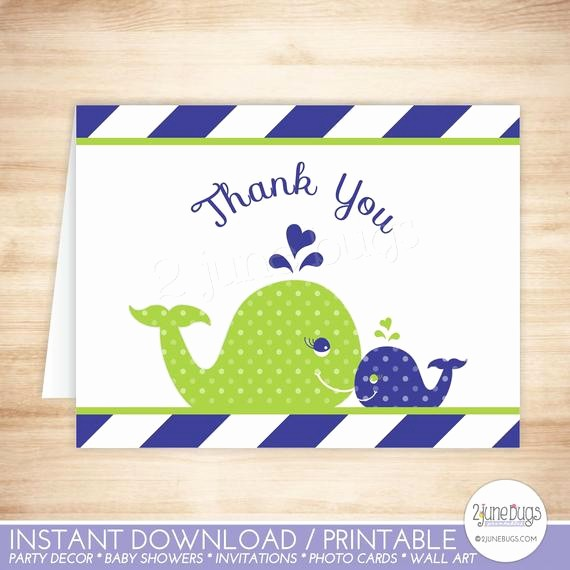 Folded Thank You Card Template Awesome Whale Thank You Card Template Whale Folded Thank You Card