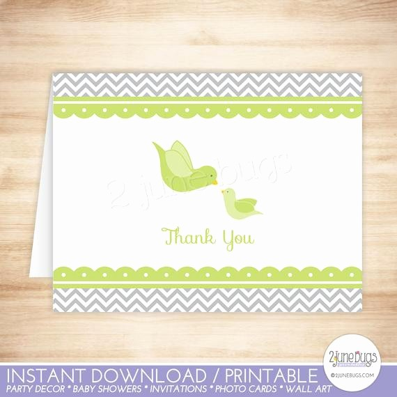 Folded Thank You Card Template Best Of Little Bird Thank You Card Template Bir Folded Thank