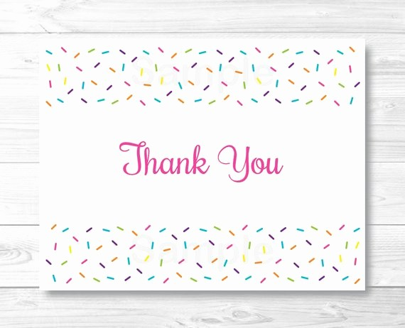 Folded Thank You Card Template Elegant Baby Sprinkle Thank You Card Folded Card Template Baby