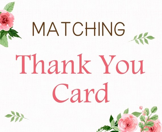 Folded Thank You Card Template Inspirational Add On Matching Printable Thank You Card Flat or