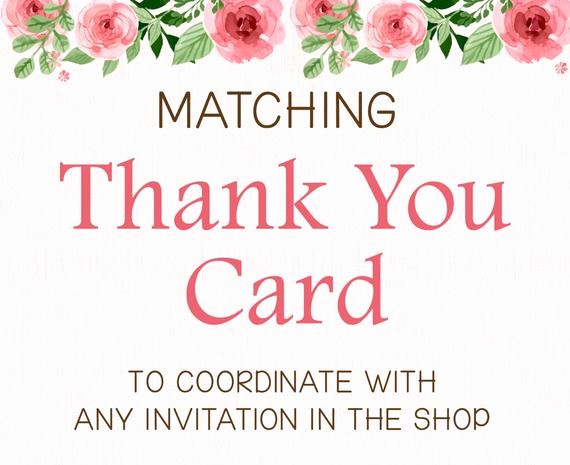 Folded Thank You Card Template Lovely Add On Matching Printable Thank You Card Flat or