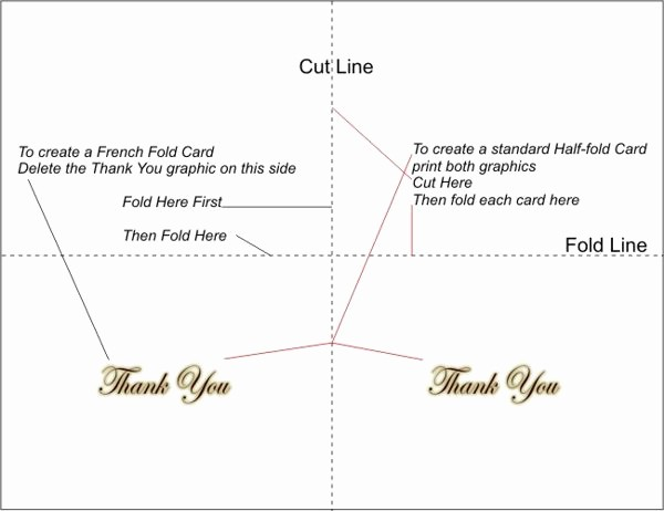 Folded Thank You Card Template Luxury Free Printable Thank You Cards 5