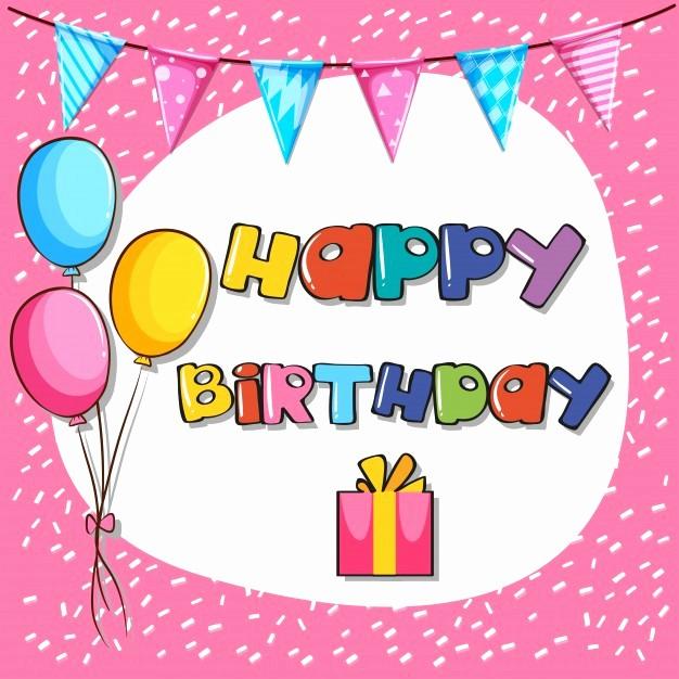 Fondos Para Tarjetas De Cumpleaños Awesome Plantilla De Tarjeta De Cumpleaños Con Fondo De Color Rosa