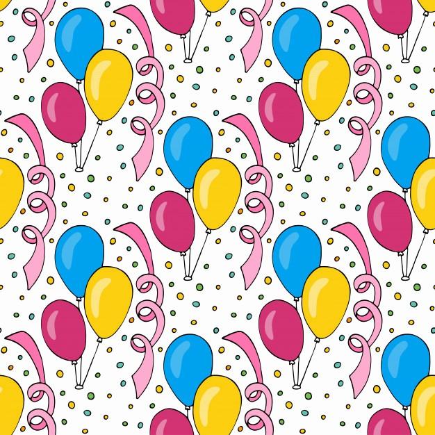 Fondos Para Tarjetas De Cumpleaños Elegant Vector Patrón De Cumpleaños Con Globos De Colores Fondo