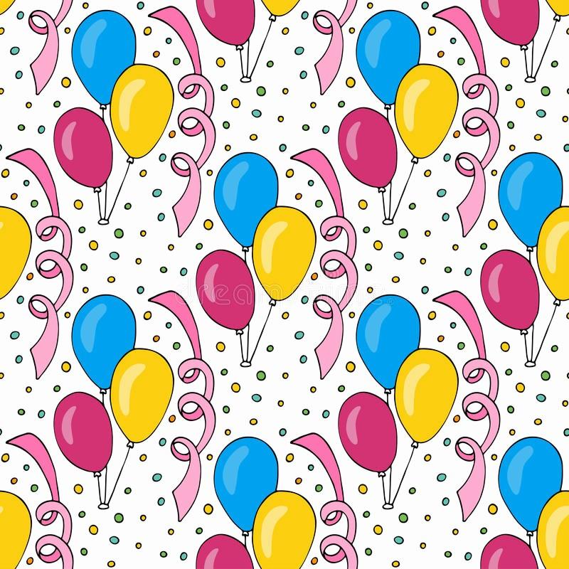 Fondos Para Tarjetas De Cumpleaños Fresh Modelo Del Cumpleaños Del Vector Con Los Globos Coloridos
