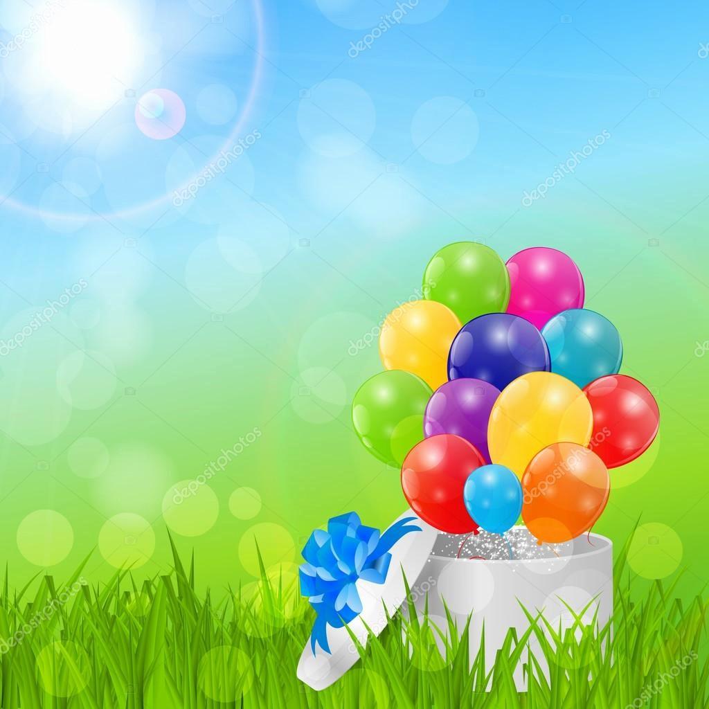 Fondos Para Tarjetas De Cumpleaños Inspirational Color Brillantes Globos Fondo Tarjeta De Cumpleaños