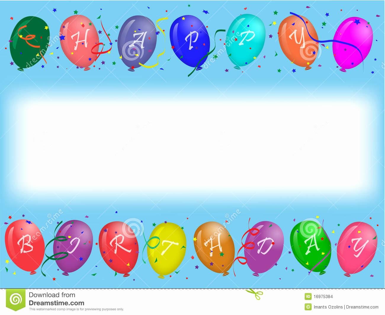 Fondos Para Tarjetas De Cumpleaños Luxury Tarjeta De Felicitación Del Cumpleaños Con Los Globos Del