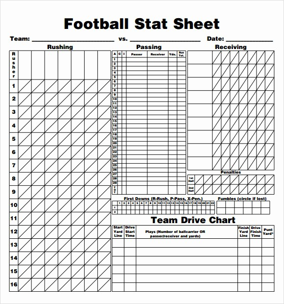 Football Team Sheet Template Download Awesome 13 Sample Football Score Sheet Templates