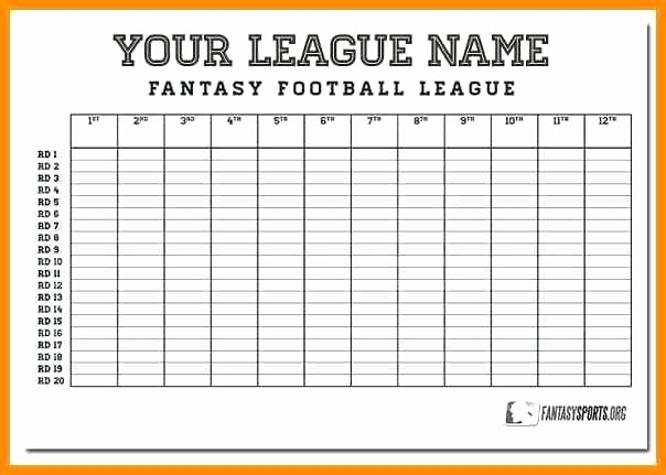 Football Team Sheet Template Download Elegant Blank Fantasy Football Draft Sheet Team Template