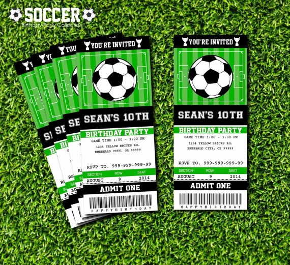Football Ticket Template Free Download Best Of soccer Ticket Invitation Printable Instant Download