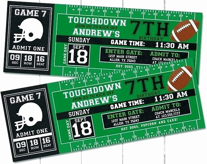 Football Ticket Template Free Download Fresh Raffle Ticket Template Word Board Templates In French
