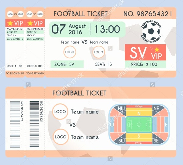 Football Ticket Template Free Download Lovely 32 Ticket Templates Psd Ai Word