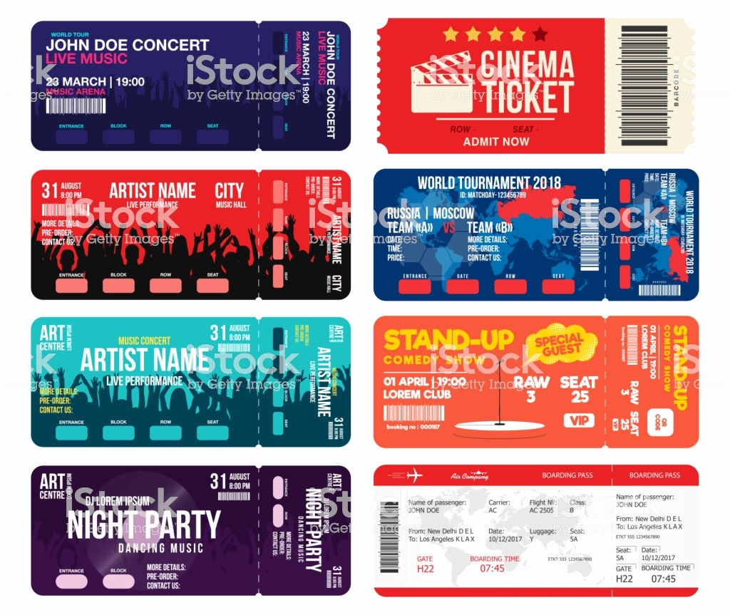 Football Ticket Template Free Download Luxury Concert Cinema Airline and Football Ticket Templates