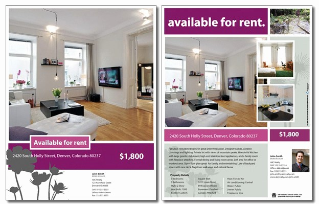 For Rent Flyer Template Free Awesome for Rent Flyer