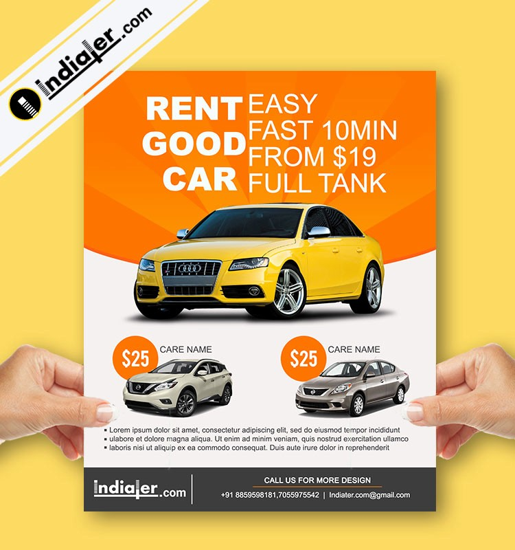 For Rent Flyer Template Free Awesome Free Car Rent Dealership Flyer Psd Templates Indiater