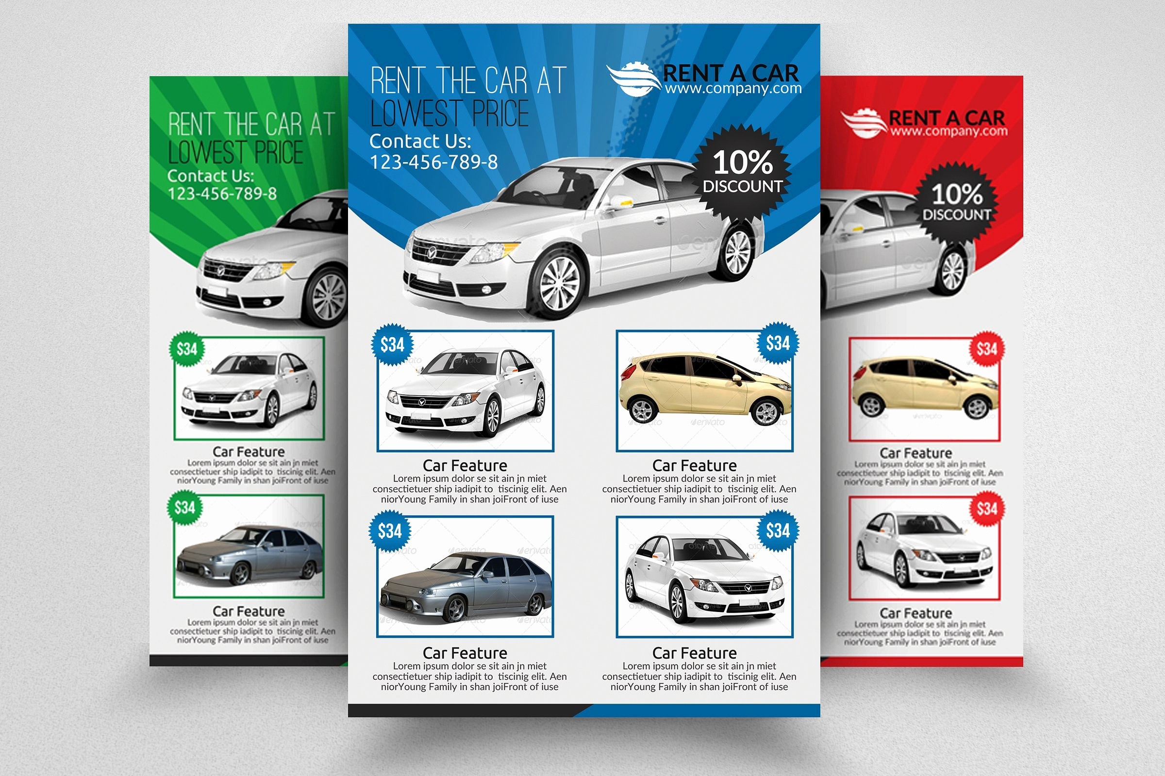 For Rent Flyer Template Free Awesome Rent A Car Flyer Template Flyer Templates Creative Market