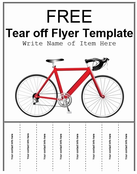 For Rent Flyer Template Free Beautiful Tear F Tabs Flyer Template 4 Free Templates format