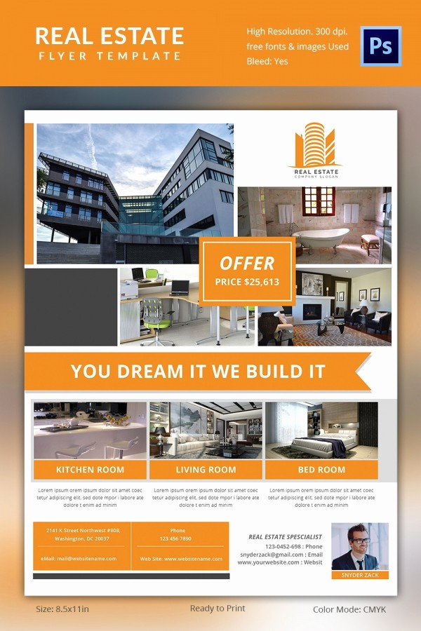 For Rent Flyer Template Free Elegant Real Estate Flyer Templates Template F House for Rent