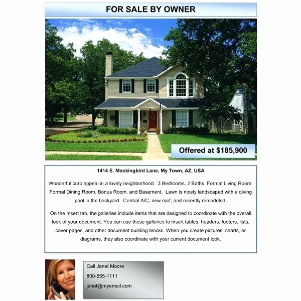 For Rent Flyer Template Free Fresh for Sale by Owner Brochure Template Best Free Flyer