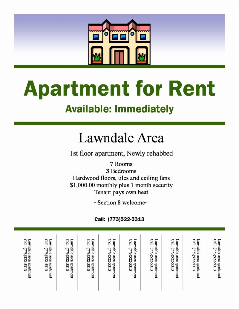 For Rent Flyer Template Free Inspirational 30 Of Apartments for Rent Advertisement Free