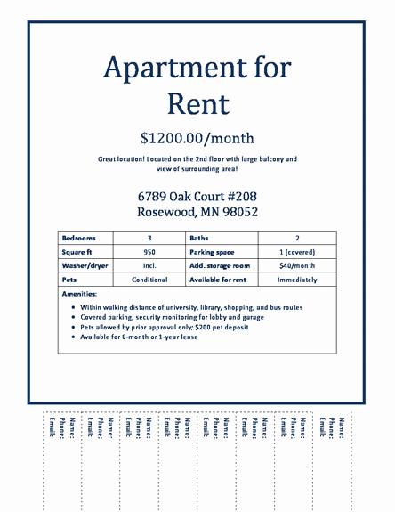 For Rent Flyer Template Free Luxury Apartment Rental Flyer Template Download Apartments for