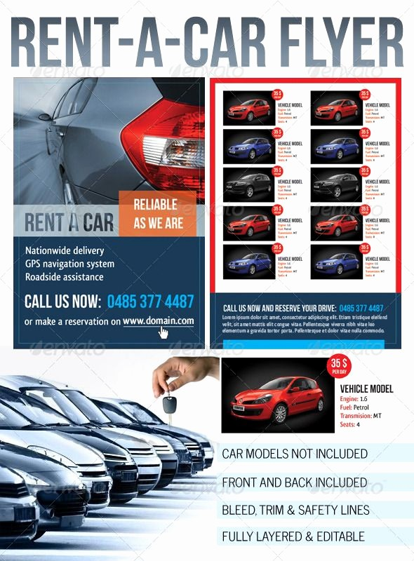 For Rent Flyer Template Free New Rent A Car Flyer Graphicriver Rent A Car Flyer Any