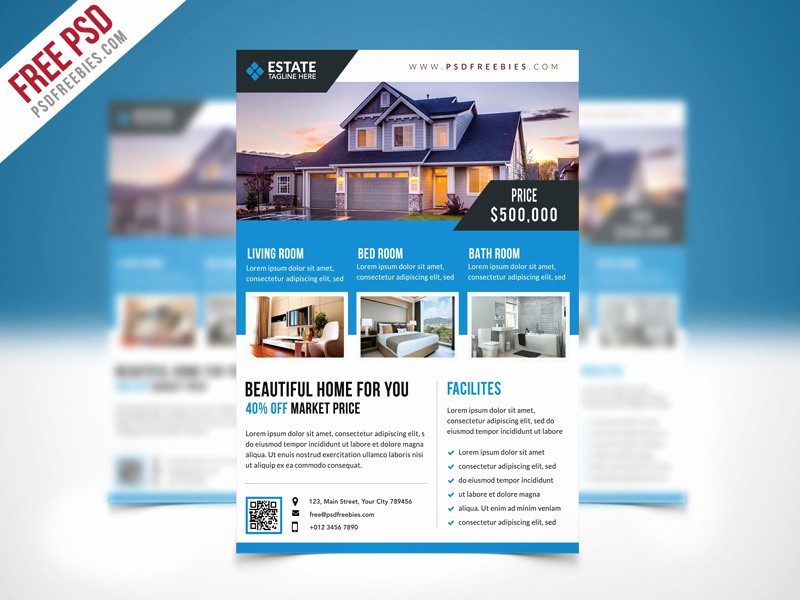 For Rent Flyer Template Free Unique Clean Real Estate Flyer Template Psd Download Psd